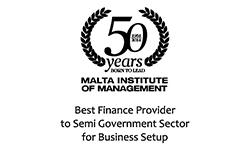 MIM Awards - Best Finance Provider to Semi Government Sector for Business Setup Award 2014