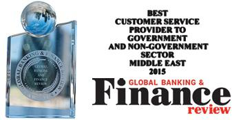 Global Banking & Finance Review - Best Customer Service Provider to Government & Non-Government Sector Middle East 2015