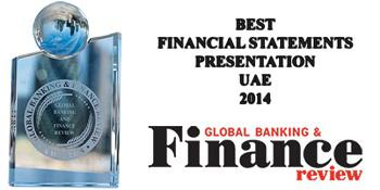 Global Banking & Finance Review - Best Financial Statements Presentation UAE 2014